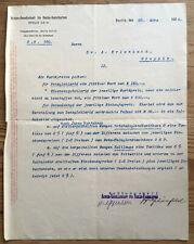 1909 FRANZ OPPENHEIM (1852-1929) AGFA eigenh. sign. Brief an Arnold Erlenbach