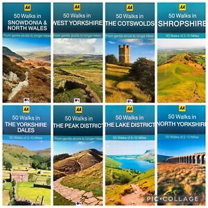 AA 50 Walks Cotswolds Peak Lake District Shropshire Yorkshire Snowdonia Guide