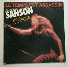 """VERONIQUE SANSON en concert : Le temps est assassin 7"""" 45T ELEKTRA 24 9520-7"""