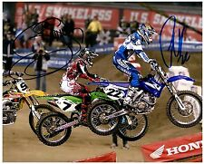 "CHAD REED & JAMES ""BUBBA"" STEWART dual Signed SUPERCROSS Motocross 8x10 Photo D"