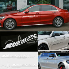 2Pcs White Vinyl Decal Stickers Sports Styling for Mercedes Benz A B C E G S CLA