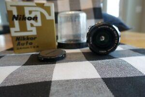 Nikon Nikkor NC Auto 24mm F/2.8 Non AI Wide Angle Lens in Nikon box with tube