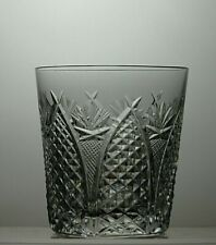 "WATERFORD CRYSTAL ""DUNMORE"" CUT TUMBLER /GLASS - 3 1/2"" TALL"