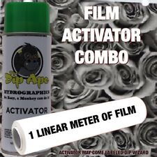 HYDROGRAPHIC FILM COMBO BLACK/CLEAR ROSES DIP APE ACTIVATOR WATER TRANSFER