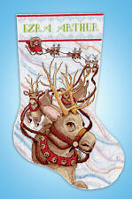 Cross Stitch Kit ~ Design Works Reindeer Ride Stocking #Dw5933