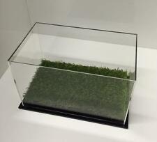 Single Boot Shoe Sports Display Case Acrylic Perspex With Artificial Grass