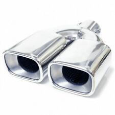 Twin Exhaust Tip Trim Pipe For Mercedes Benz E Class W210 W211 W212 W213