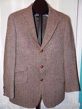 Chaps Ralph Lauren F. R. Tripler & Co NY Herringbone Tweed Wool Blazer 60s -70s