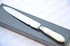 MOTHER OF PEARL AND STERLING SILVER FERRULE LETTER OPENER SHEFFIELD 1924 !