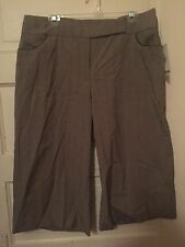 Nine & Co By Nine West Ladies Woman's Capris Pants Size 16 Chocolate Tan Nwt