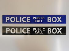 HOBBY SHED BOYS BEDROOM POLICE BOX SIGN RIGID GLOSS METAL FACED NEW!!