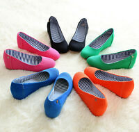 2018 HOT Womens Party Platform Multi Colored Canvas Wedge Closed-Toe Shoes Pumps