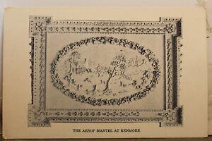 Virginia VA Fredericksburg Kenmore Aesop Mantel Great Room Postcard Old Vintage