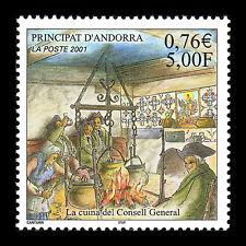 Andorra 2001 - Historical Kitchens Foot Art Paintings - Sc 541 MNH