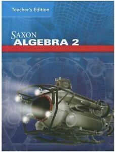 Algebra 2 Saxon Teacher's Edition Hardcover - New