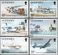 GB-Guernsey 453-458 (kompl.Ausg.) postfrisch 1989 Flughafen
