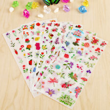 6 Sheets/lot Colorful Floral Plants Flowers Decoration PET Stationery Stickers