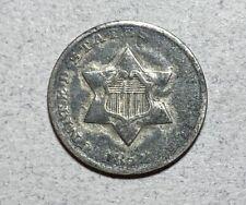 1852 3CS Three Cent Silver