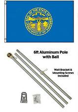 3x5 State of Nebraska Flag Aluminum Pole Kit Gold Ball Top 3'x5'