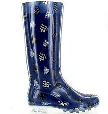 Toms Womens Cabrilla Rain Boot Moonlight Blue Raindrop Print Size 6 M