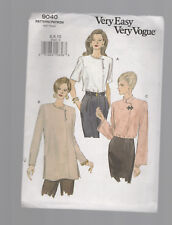 VOGUE   9040 pattern blouse tunic top SZ 6 8 10 unused uncut factory folded