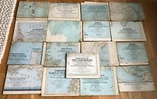 Lot 17 Vintage National Geographic Maps, 1934-1950, USA, Asia, USSR, Germany+++