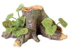 Tree Root with Silk Plant Aquarium Ornament Vivarium Decoration 16.5cm