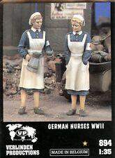 Verlinden 1:35 WWII German Nurses w/ Kettle - 2 Resin Figures Kit #894