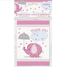 UMBRELLAPHANTS PINK - Baby Shower PARTY RANGE New Girl Tableware & Decorations