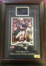 2005 Tom Brady Signed Framed Game Worn Jersey Piece Limited Edition 10/11 COA