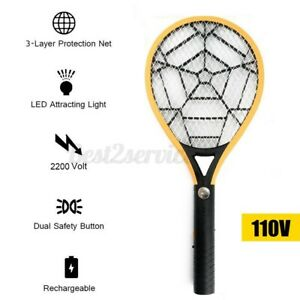 Loskii Rechargeable Electric Bug Zapper Mosquito Insect Fly Swatter   ❤