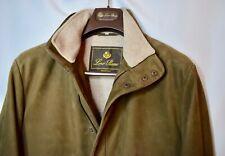 $4800 Loro Piana Brown Suede Kidskin Leather Cashmere Mens Traveller Jacket M 50