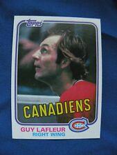 1981/82 Topps Guy LaFleur Canadians card #19 Hockey NHL $1 S&H