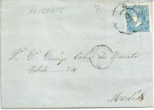 CARTA  ALICANTE - MADRID   1865   MANUSCRITA  NL507