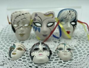 Vintage Decorative Masks X 6 Hand Painted, Wall Art, Excellent Condition #4