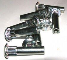 20Stück Hülsenschraube Hülsenmutter Innengewindehülse 6mm Stahl Verzinkt 8x34mm
