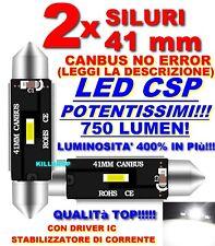 2X LED SILURO 41 MM CSP CANBUS NO ERRORE TARGA LAMPADE C5W LAMPADINE LEGGI DES
