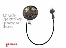 """Kitchen Sink Waste Astracast 3.5"""" Cable Operated Pop-up Waste Kit - Chrome"""