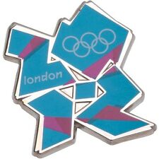 Olympics London 2012 Blue & Pink Logo Pin - New and Sealed