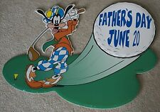 Disney Goofy Golfing Fathers Day Store Sign
