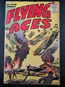 ⭐️ FLYING ACES #1 (vol 1) (1955 KEY Publications Comics) LOW GRADE Book