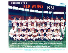 1961 ROCHESTER RED WINGS TEAM 8X10  PHOTO  BOOG POWELL NEW YORK  BASEBALL