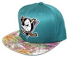 Anaheim Mighty Ducks Bubblegum Weed Brim Mitchell & Ness SnapBack Teal