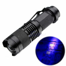 Aluminum High Power 10W 395nm UV Lamp Purple Violet Light LED Flashlight 4EV