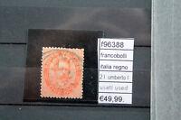 FRANCOBOLLI REGNO 2 L UMBERTO PRIMO USED USATI (F96388)