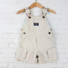 Osh Kosh B'Gosh Boys Overalls Shorts Baby Size 12M Khaki Tan Shorts Summer Play