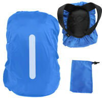 Adjustable Waterproof Bag Rain Cover Backpack Rucksack w/ Reflective Strip 10-70