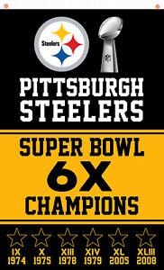 Pittsburgh Steeler Football Champion Memorable Flag 90x150cm 3x5ft best banner