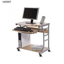 rolling computer desk laptop compact dorm student study workstation apartment