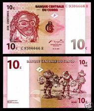 CONGO AFRIQUE BILLET 10 CENTIMES 1997 P82 DANSEURs NEUF